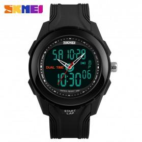 SKMEI Jam Tangan Digital Analog Pria - AD1157 - Black/Black - 2