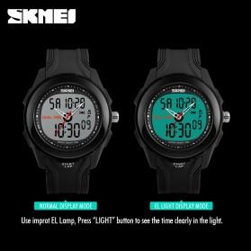 SKMEI Jam Tangan Digital Analog Pria - AD1157 - Silver Black - 3