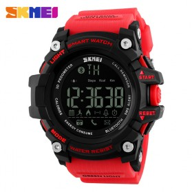 SKMEI Jam Tangan Olahraga Smartwatch Bluetooth - DG1227 BL - Black/Red