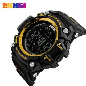 SKMEI Jam Tangan Olahraga Smartwatch Bluetooth - DG1227 BL - Black Gold - 2