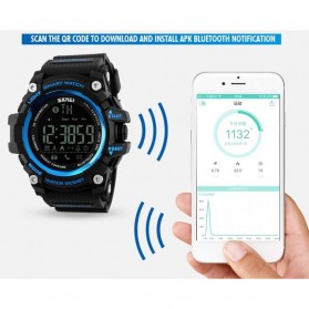 SKMEI Jam Tangan Olahraga Smartwatch Bluetooth - DG1227 BL - Black Gold - 3