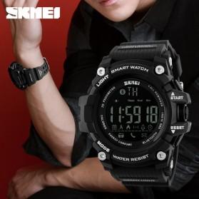 SKMEI Jam Tangan Olahraga Smartwatch Bluetooth - DG1227 BL - Black Gold - 4