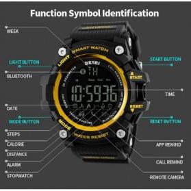 SKMEI Jam Tangan Olahraga Smartwatch Bluetooth - DG1227 BL - Black Gold - 5