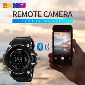 SKMEI Jam Tangan Olahraga Smartwatch Bluetooth - DG1227 BL - Black Gold - 8