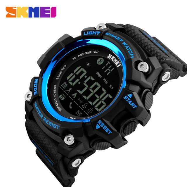 ... SKMEI Jam Tangan Olahraga Smartwatch Bluetooth - DG1227 BL - Black Blue - 2 ...