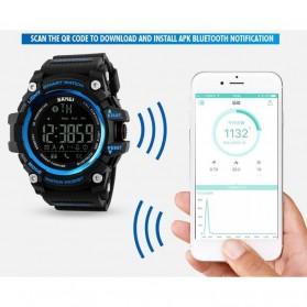 SKMEI Jam Tangan Olahraga Smartwatch Bluetooth - DG1227 BL - Black - 3