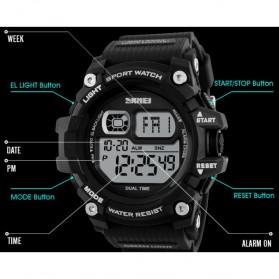 SKMEI Jam Tangan Olahraga Sporty Pria - DG1229 - Black - 3