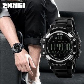 SKMEI Jam Tangan Olahraga Smartwatch Bluetooth - DG1226 BL - Black/Silver - 4