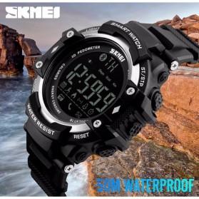 SKMEI Jam Tangan Olahraga Smartwatch Bluetooth - DG1226 BL - Black/Silver - 6