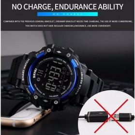 SKMEI Jam Tangan Olahraga Smartwatch Bluetooth - DG1226 BL - Black/Silver - 7