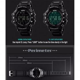 SKMEI Jam Tangan Olahraga Smartwatch Bluetooth - DG1226 BL - Black/Silver - 8