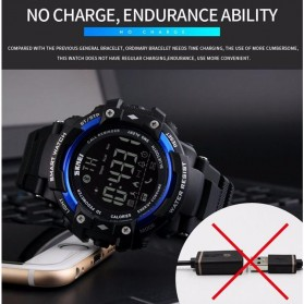 SKMEI Jam Tangan Olahraga Smartwatch Bluetooth - DG1226 BL - Black - 7