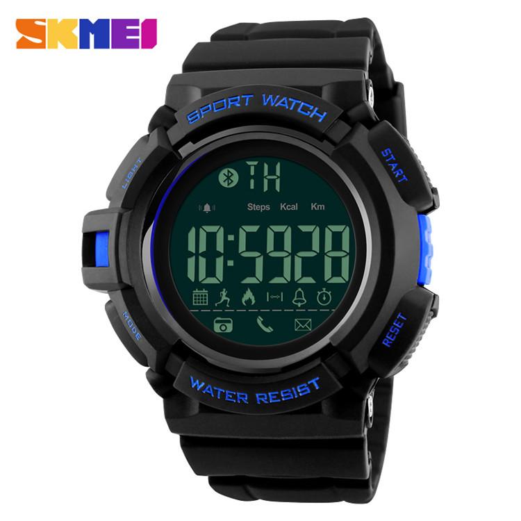 ... SKMEI Jam Tangan Olahraga Smartwatch Bluetooth - DG1245 BL - Black Blue - 1 ...