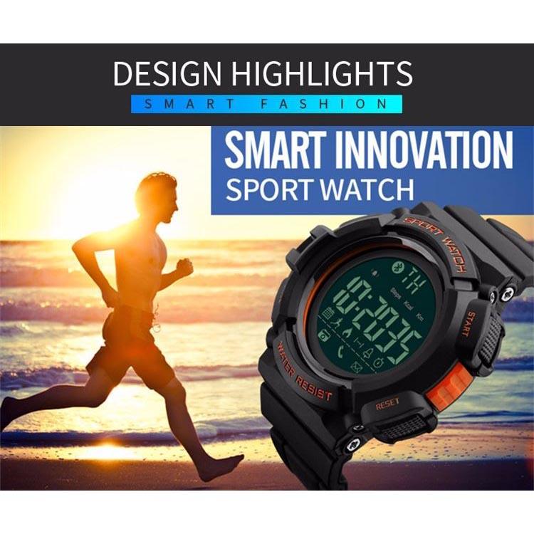 ... SKMEI Jam Tangan Olahraga Smartwatch Bluetooth - DG1245 BL - Black Blue - 6 ...
