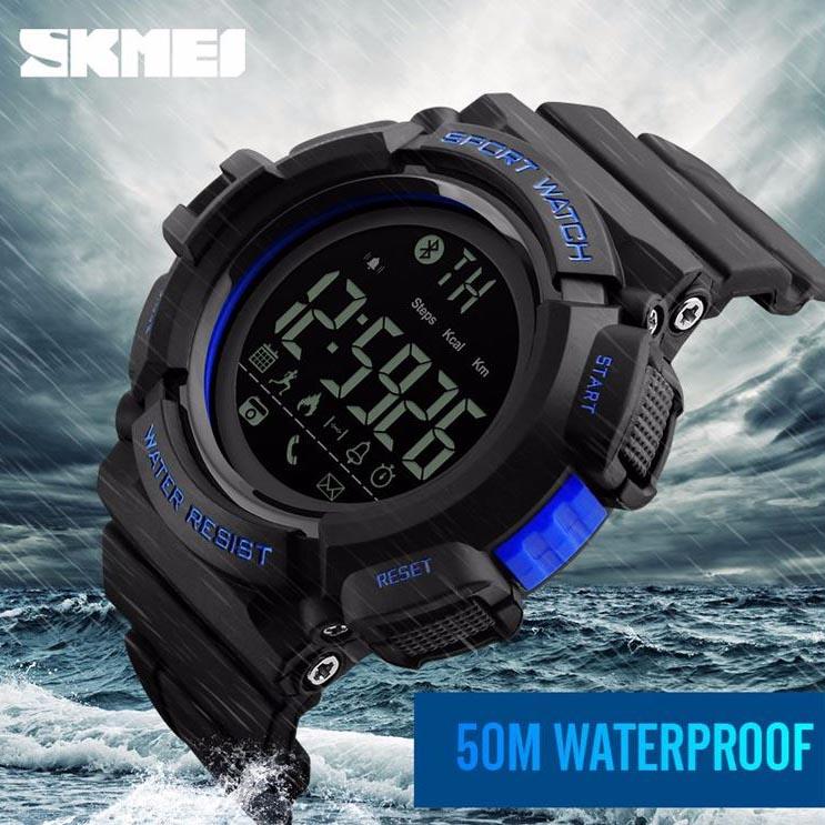 ... SKMEI Jam Tangan Olahraga Smartwatch Bluetooth - DG1245 BL - Black Blue - 8 ...