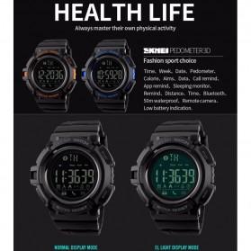 SKMEI Jam Tangan Olahraga Smartwatch Bluetooth - DG1245 BL - Black/Black - 2
