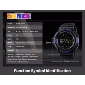 SKMEI Jam Tangan Olahraga Smartwatch Bluetooth - DG1245 BL - Black/Black - 9