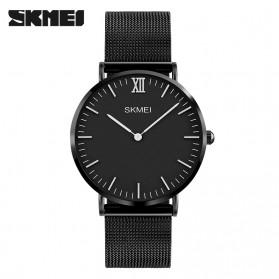 SKMEI Jam Tangan Pria Milanese Premium Stainless Steel - 1182 - Black - 1