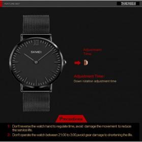 SKMEI Jam Tangan Pria Milanese Premium Stainless Steel - 1182 - Black - 5
