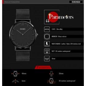 SKMEI Jam Tangan Pria Milanese Premium Stainless Steel - 1182 - Black - 6
