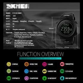 SKMEI Jam Tangan Digital Pria - DG1231CM - Black - 6
