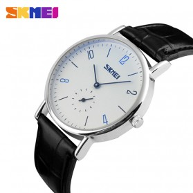 SKMEI Jam Tangan Analog Pria - 9120CL - White/Black - 2