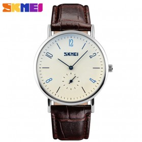 SKMEI Jam Tangan Analog Pria - 9120CL - Brown/White - 1