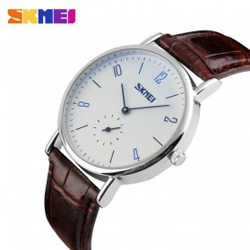 SKMEI Jam Tangan Analog Pria - 9120CL - Brown/White - 2