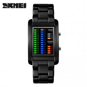 SKMEI Jam Tangan LED Unik - 1103A - Black