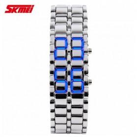 SKMEI Jam Tangan LED Pria - 8061G - Silver Blue