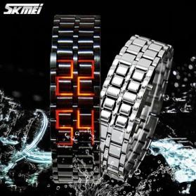 SKMEI Jam Tangan LED Pria - 8061G - Silver Blue - 2