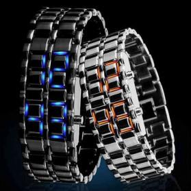SKMEI Jam Tangan LED Pria - 8061G - Silver Blue - 3