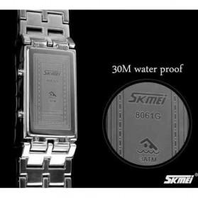 SKMEI Jam Tangan LED Pria - 8061G - Silver Blue - 5