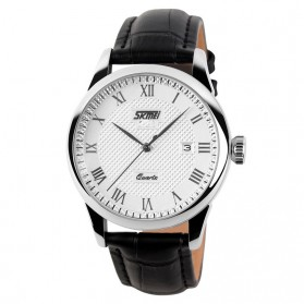 SKMEI Jam Tangan Analog Pria - 9058CL - White/Black