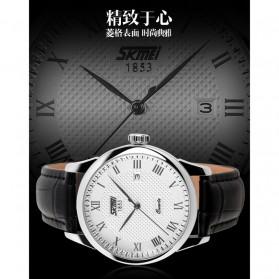 SKMEI Jam Tangan Analog Pria - 9058CL - White/Black - 3