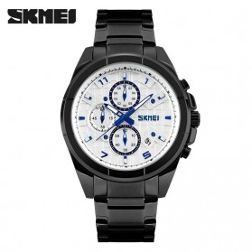 SKMEI jam Tangan Analog Pria - 9109CS - Black White
