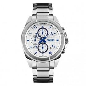 SKMEI jam Tangan Analog Pria - 9109CS - White/Silver