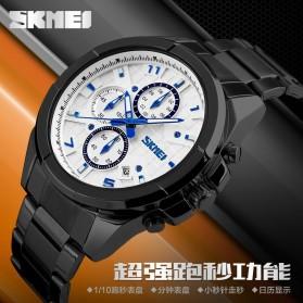 SKMEI jam Tangan Analog Pria - 9109CS - White/Silver - 5