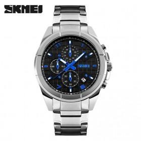 SKMEI jam Tangan Analog Pria - 9109CS - Black/Silver