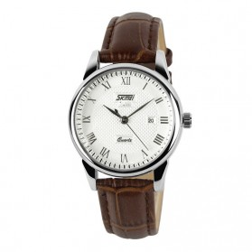 SKMEI Jam Tangan Analog Wanita - 9058CL - Brown/White