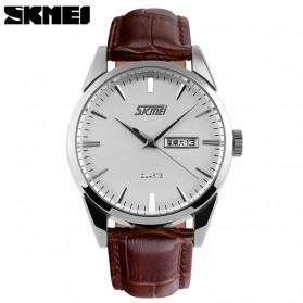 SKMEI Jam Tangan Analog Pria - 9073CL - White/Silver
