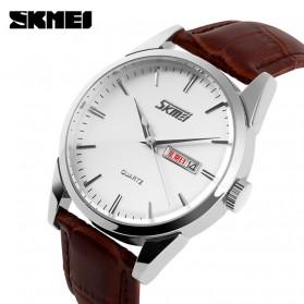 SKMEI Jam Tangan Analog Pria - 9073CL - White/Silver - 2