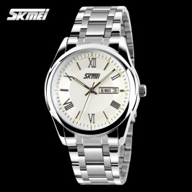 SKMEI Jam Tangan Analog Pria - 9056C - Silver - 2