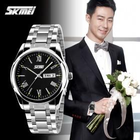 SKMEI Jam Tangan Analog Pria - 9056C - Silver - 4
