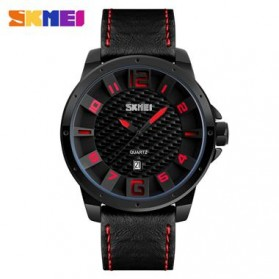 SKMEI Jam Tangan Analog Pria - 9150CL - Black/Red