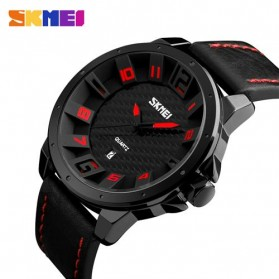 SKMEI Jam Tangan Analog Pria - 9150CL - Black/Red - 2