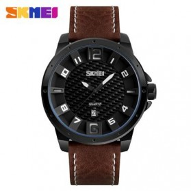 SKMEI Jam Tangan Analog Pria - 9150CL - Black/Brown