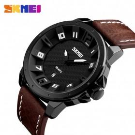 SKMEI Jam Tangan Analog Pria - 9150CL - Black/Brown - 2