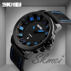 SKMEI Jam Tangan Analog Pria - 9150CL - Black/Brown - 6