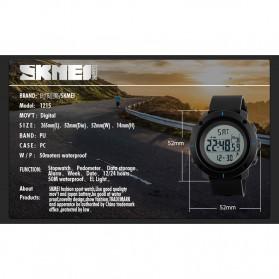 SKMEI Jam Tangan Digital Pria - DG1215S - Black - 7